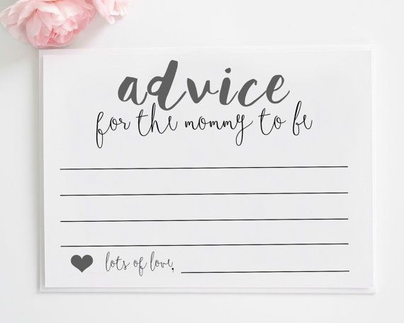 Mommy Advice cards printable  Advice for the by CKweddingcrafts