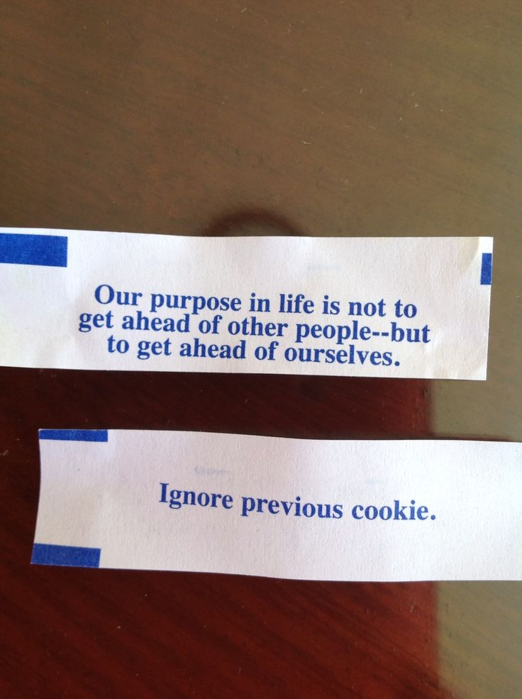 I ate two cookies and got this. I'm not sure of which is wiser...