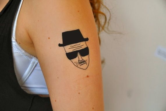 This totally bad Heisenberg tattoo. | 26 Tattoos To Wear Only For A Night
