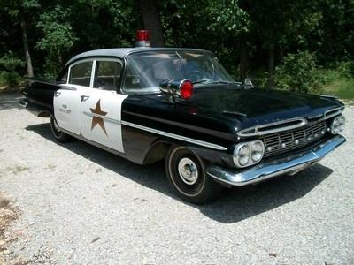 1959 Chevy Police Car https://mrimpalasautoparts.com