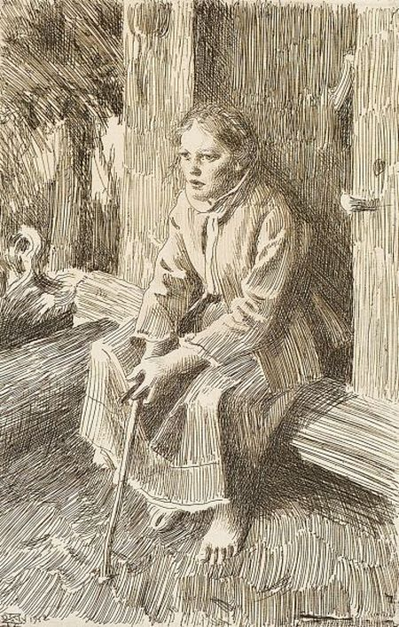 Anders Zorn (1860-1920) Vallkulla, 1912 Etching on laid paper. Nice depiction of different planes.