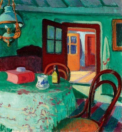 Ziffer Sándor enteriőrje, A festő nagybányai szobája