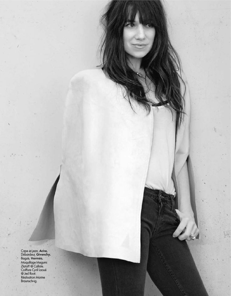 the lovely charlotte gainsbourg for elle france photography: kate barry
