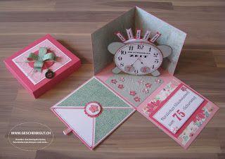Überraschungsbox Explosionsbox Zeit Uhr Geburtstag Ausflug