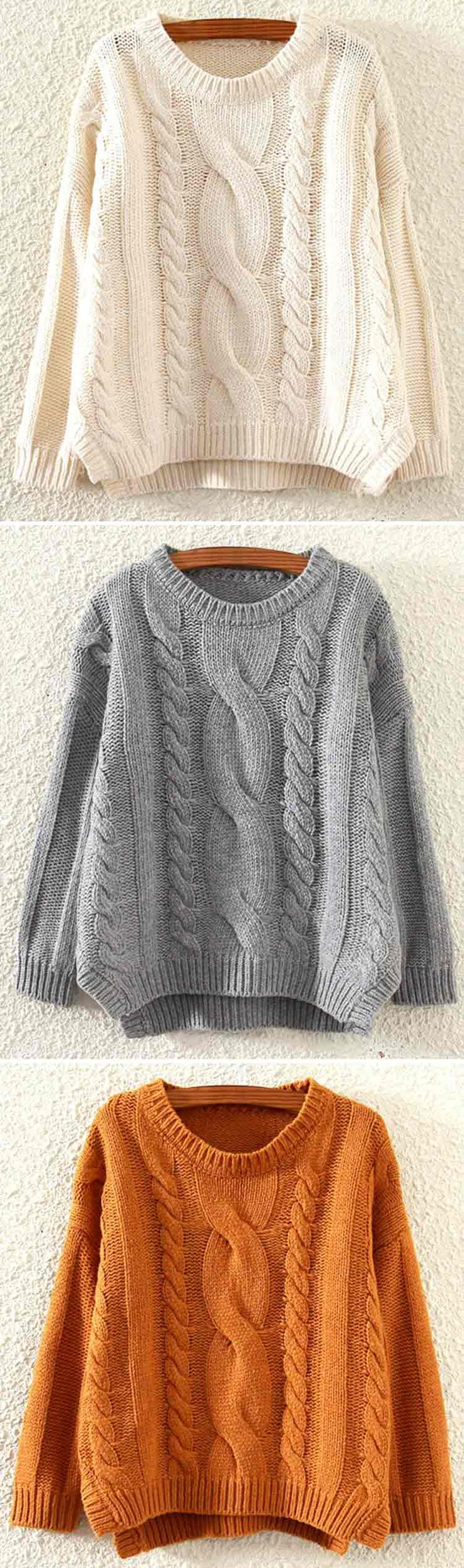Absolutely good quality! $34.99 Only with free shipping&easy return! This twist knitting sweater is characterized by side slits&drop shoulder! We know you are about to fall head over heals in love with this ribbed piece!