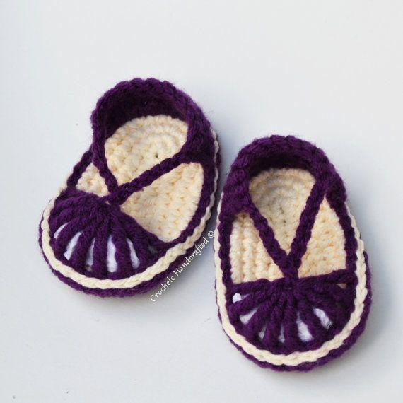 84 best images about sandalias bebe tejidas on Pinterest ...