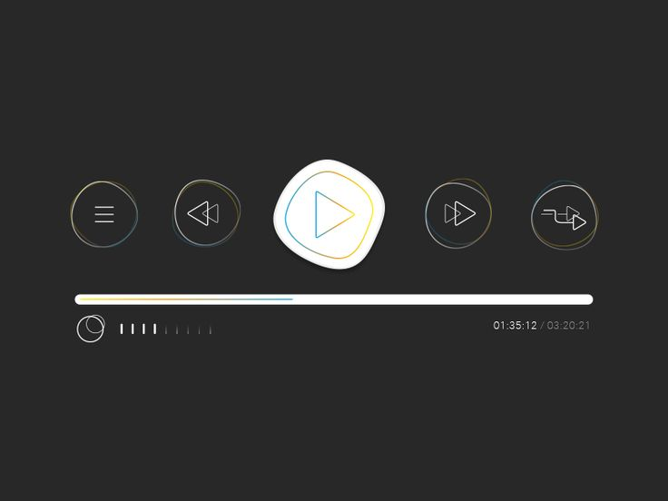 User interface: Music player