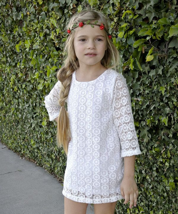 Look what I found on #zulily! White Lace Shift Dress - Toddler & Girls by Knuckleheads #zulilyfinds