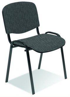 Konferenčná stolička ISO sivočierna