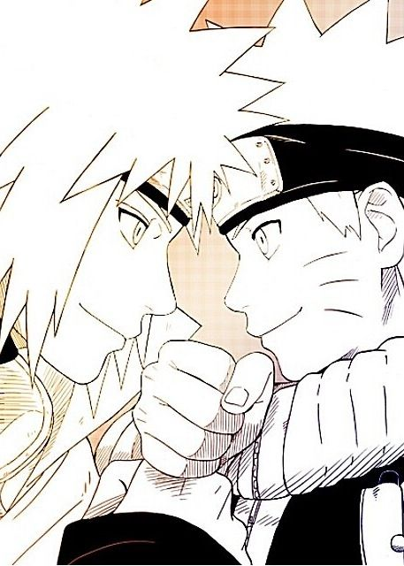 Naruto and Minato like father, like son
