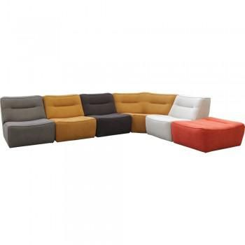 This is a modular sectional. Mix and match and add up as many pieces as you need to create your own perfect looking sofa or sectional. You can even mix up the colors of the fabrics for each piece. The Arena series is a truly unique and personalized design.The Arena series is a part of the in stock program. This quick ship program comes with 9 different fabrics that are immediately available. For any other fabric options or frame options email or call today