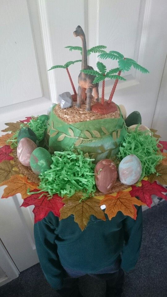 Easter Bonnet for my boy who loves dinosaurs more than chicks and bunnies!