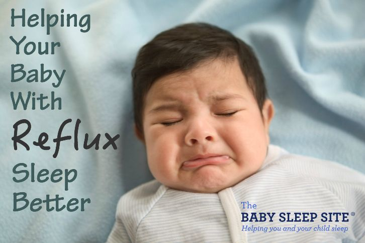 Infants with acid reflux or GERD often have trouble sleeping. And sleep training babies with reflux is tough! We share tips to help your infant with reflux sleep.