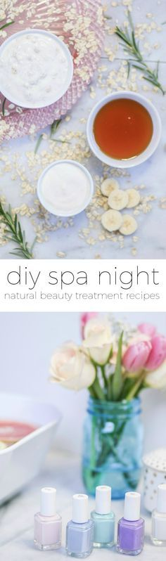 Learn how to create a luxurious spa night at home with these easy DIY spa treatment recipes. You'll learn how to make a DIY lip scrub, moisturizing hair mask, soothing face mask, and chamomile hair rinse in this post with all-natural, affordable ingredients. Click through this pin to see all of the DIY beauty recipes and skin care tips from beauty blogger Ashley Brooke Nicholas!   Sponsored by #crest @crest