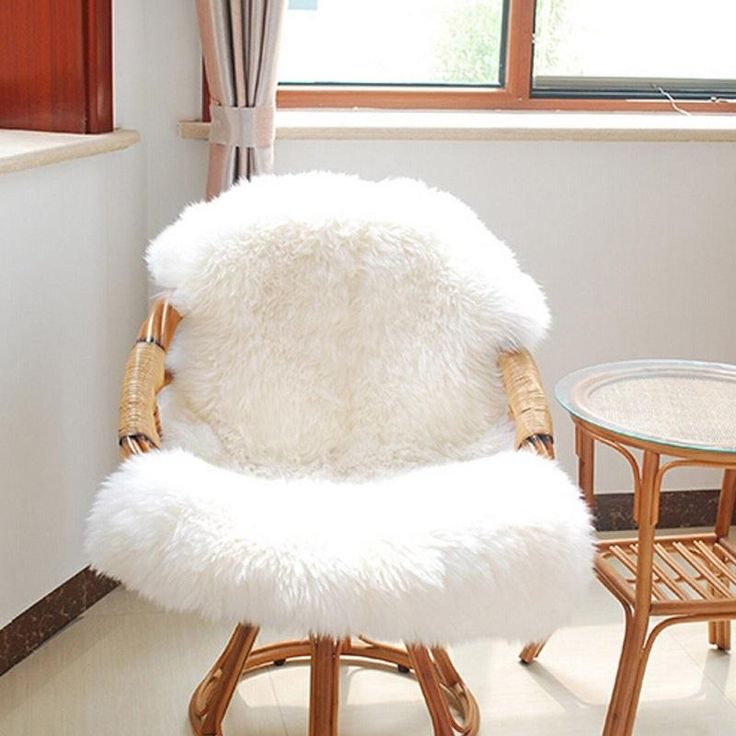 Chair Cover Carpet. Plain Skin Fur Plain Fluffy Area Rugs