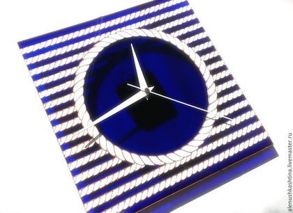 "Часы для дома ручной работы. Ярмарка Мастеров - ручная работа Часы настенные ""Морские канаты"". Handmade."