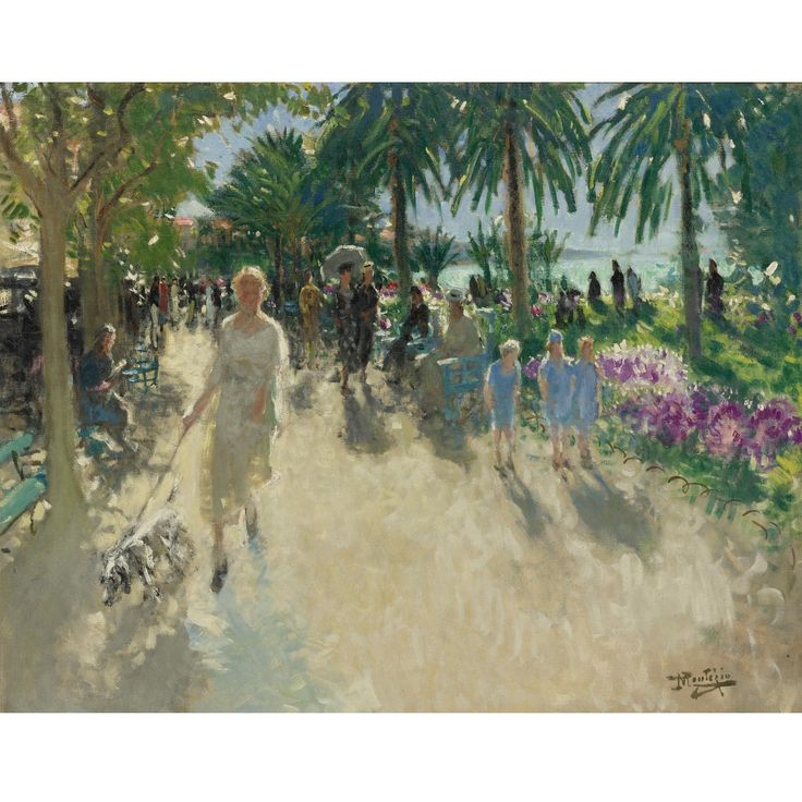 Pierre Eugène Montezin (1874–1946),  LA CROISETTE, CANNES; Oil on canvas, 73.6x92.1 cm
