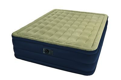 Intex Queen Raised Plush Airbed Mattress Bed with Built-In Pump | Model 67709E