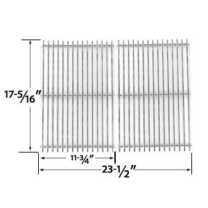 8MM HEAVY DUTY STAINLESS STEEL COOKING GRID REPLACEMENT FOR BROIL KING 96824, 96827, 96844, 96847, 96894, 96897, 969-24, 969-27, 969-44, 969-47, 969-94, 969-97, 96924, 96994, 96997 GAS GRILL MODELS, SET OF 2