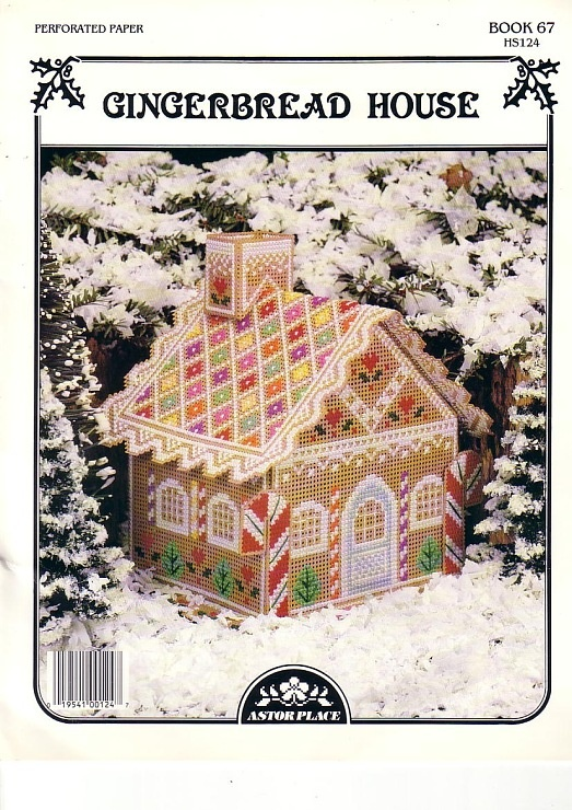 Gingerbread house (plastic canvas)