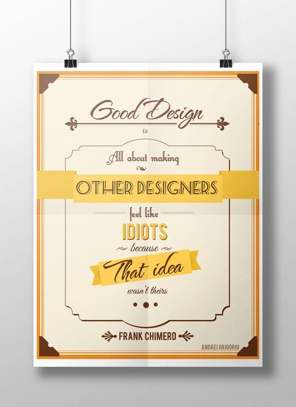 Designer Poster by Grigoriu Andrei, via Behance