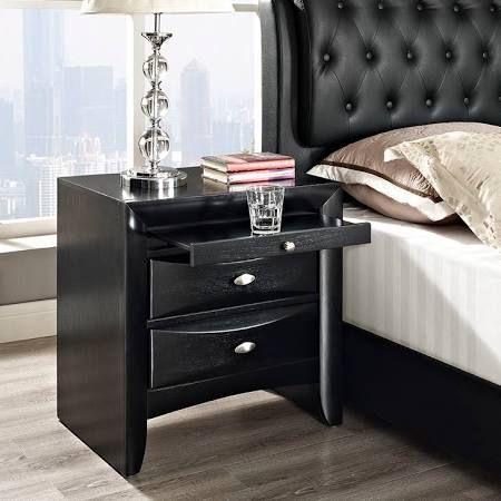 Best Lexmod Harrison Nightstand In Black Contemporary Bedroom 400 x 300