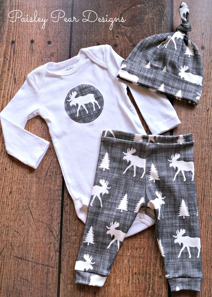 Baby Organic Moose Gift Set Cute for Shower Gift Pants Hat Onesie in 4 different choices, aqua, gray, white, and coral by PaisleyPearDesignsMT on Etsy https://www.etsy.com/listing/210905094/baby-organic-moose-gift-set-cute-for