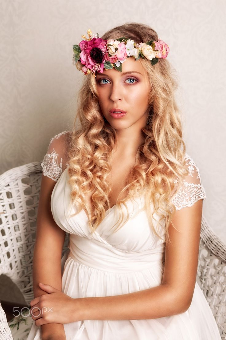 """Bride (7) - Wedding portrait of beautiful young woman.  You are welcome to visit my sites <a href=""""http://portretyzeman.cz/"""">www.portretyzeman.cz</a> and <a href=""""http://svatbyzeman.cz/"""">www.svatbyzeman.cz</a> for my other portrait works.  You can also visit my <a href=""""http://janz.cz/"""">blog</a> about photography and retouching."""