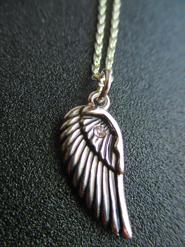 Birds wing on silver chain from Crimeajewel