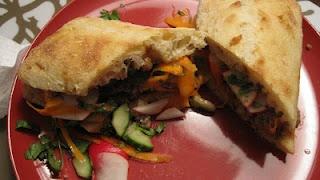Hoisin-Glazed Meatloaf Banh-Mi (sandwiches)