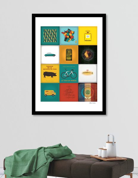 Discover «France symbols», Limited Edition Fine Art Print by Dorus  Verwiel…