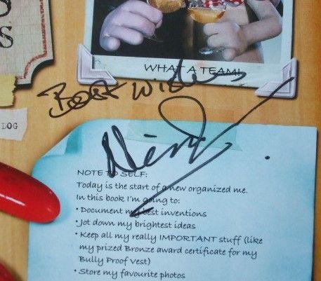 Nick Park's Signature (creator of Wallace & Gromit)