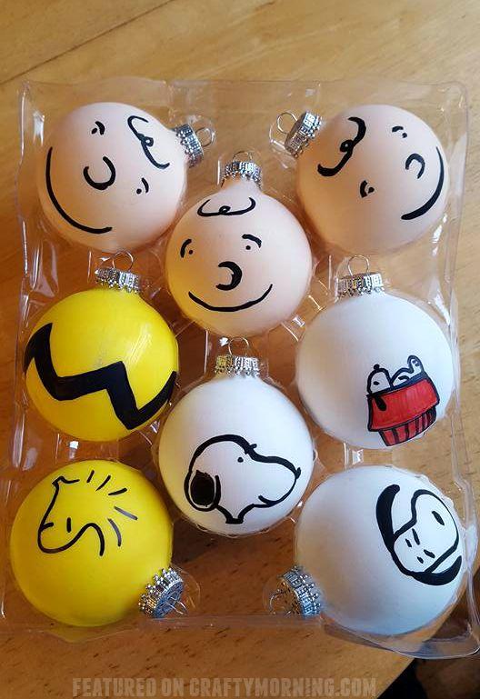 Charlie Brown peanuts gang christmas ornament crafts!
