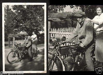 Cool Biker Boy w Frumpy Girl on Thor Motorcycle 1910s | eBay
