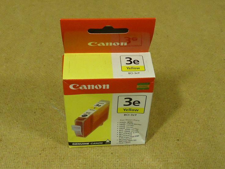 Canon Printer Cartridge Yellow Genuine OEM BCI-3ey Ink -- New