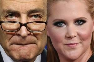 """""""Don't worry, I'm on it"""": Amy Schumer and her cousin, Senator Chuck Schumer, propose legislation to stop gun violence"""
