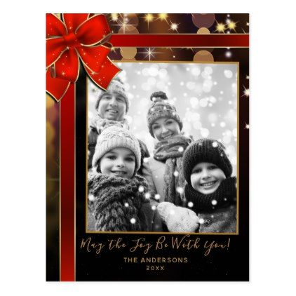 Star Spacey Cosmic Lights Modern Holiday Photo Postcard - holidays diy custom design cyo holiday family