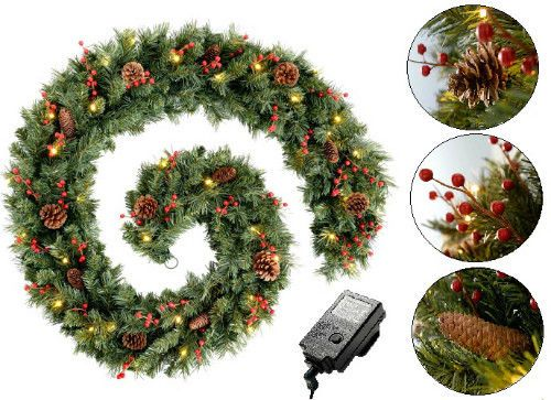 Outdoor Lighted Wreath Awesome 53 Best 60Cm Christmas Door Wreath Prelit Warm Led Lights Inspiration