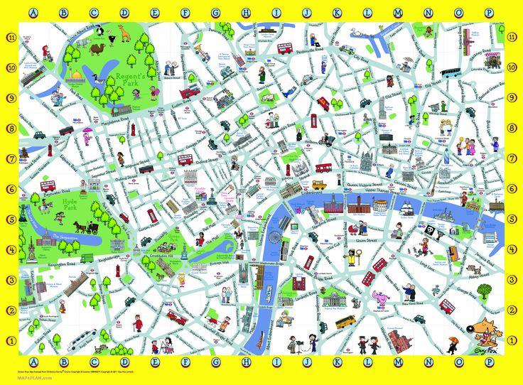 London Detailed Landmark Map | London maps - Top tourist attractions - Free, printable - Mapaplan.com