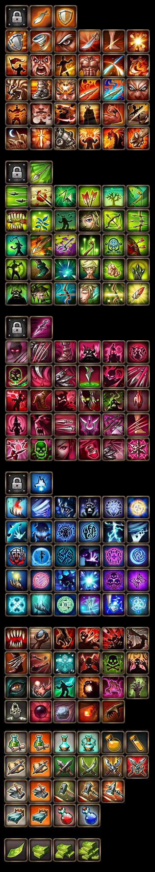 Skill icons: