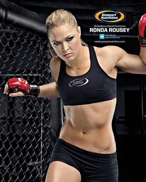 Ronda Rousey. Shes a bad B. Cant wait to watch her rock liz carmouche! !!