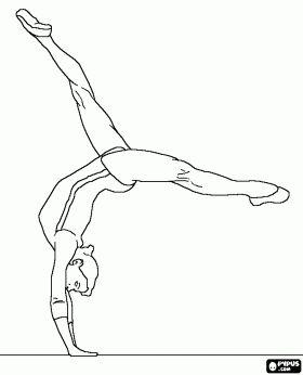 Gymnastics coloring pages Gymnastics