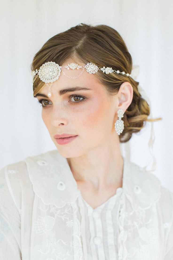 Vintage Inspired Bridal Headband from Edera Jewlery