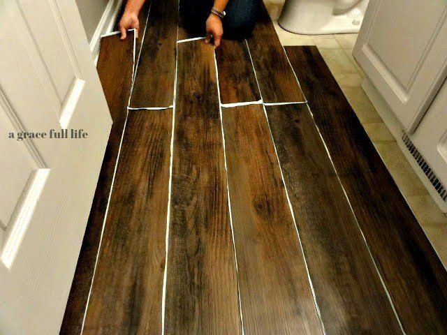 How To Peel And Stick Hardwood Floors For Your Bath Diy Faux