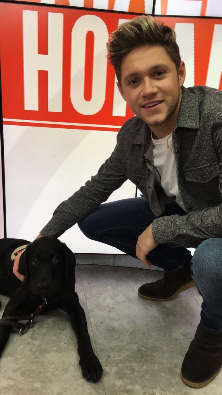 Two of my favorite things.. Niall Horan and a dog. Niall at the TODAY Show October 28, 2016