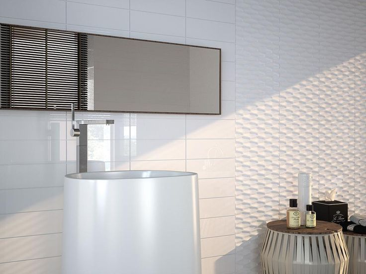 #Baños que combinan azulejos #Metroline lisos y con relieve.
