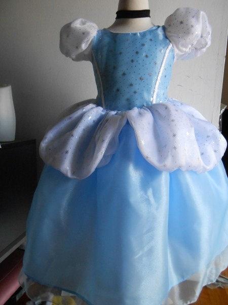 GIrls Cinderella Dress, Cinderella costume sizes 2-8 Princess dress halloween Dress up