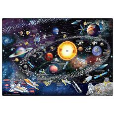 Map of the Solar System Magnetic Playboard and Puzzle - 50-piece