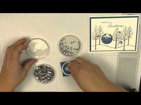 White Christmas Shaker Card - YouTube