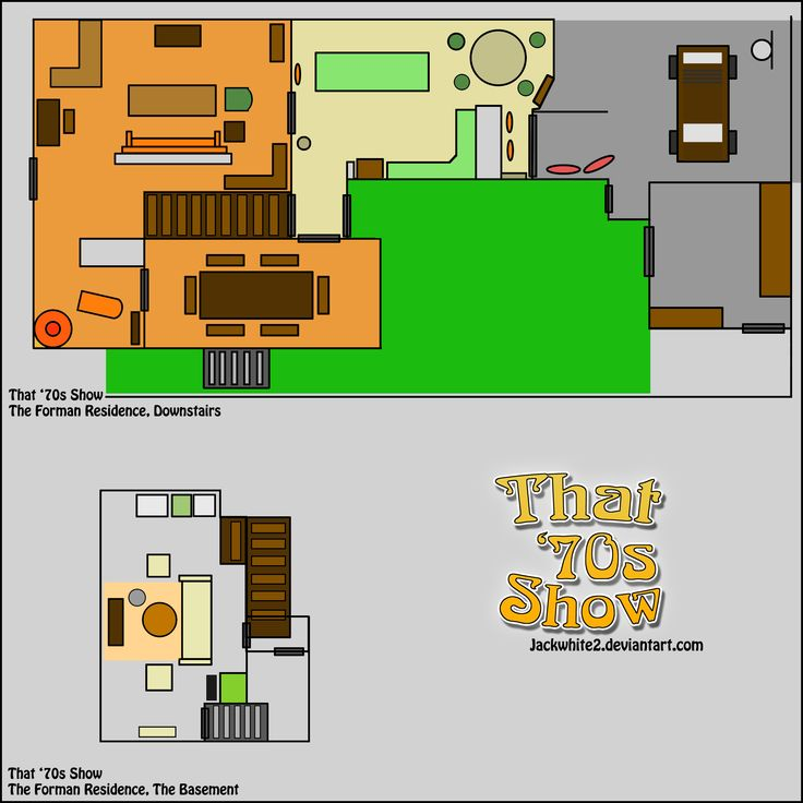 The Forman Residence Floor Plan. That '70s Show